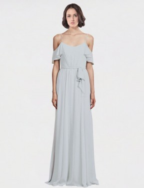 Frost Floor Length Long Spaghetti Straps Off the Shoulder Tiana Bridesmaid Dress Perth