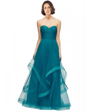Shop Turquoise Floor Length Long Sweetheart Strapless Lacey Bridesmaid Dress Perth